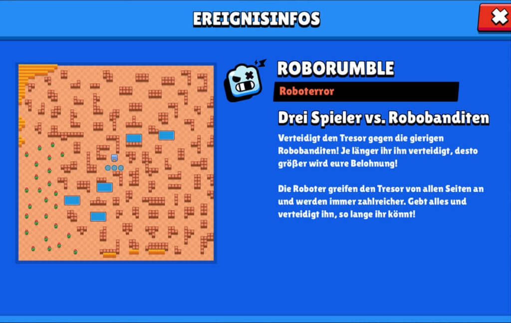 Robo Rumble ist ein Sonderspiel, bei dem man zu Dritt einen Tresor in der Mitte verteidigen muss. Von allen Rändern kommen dabei computergesteuerte Roboter gelaufen, die den Tresor kaputt machen möchten.