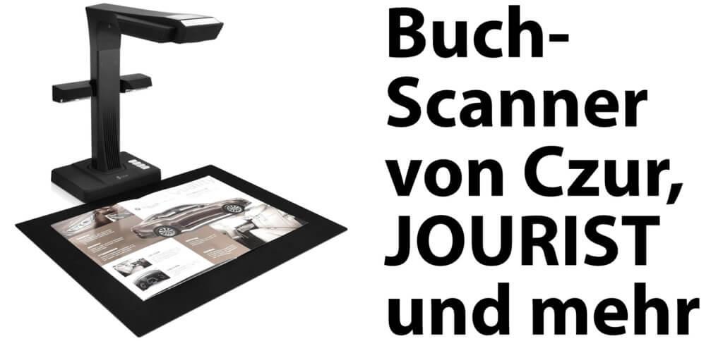 Ein Buch scannen oder Bücher abfotografieren ist nicht so leicht. Buchscanner von Czur und Bücherscanner von JOURIST vereinfachen die Ablichtung von Druckerzeugnissen – mit Software zur Ausbesserung und für OCR.