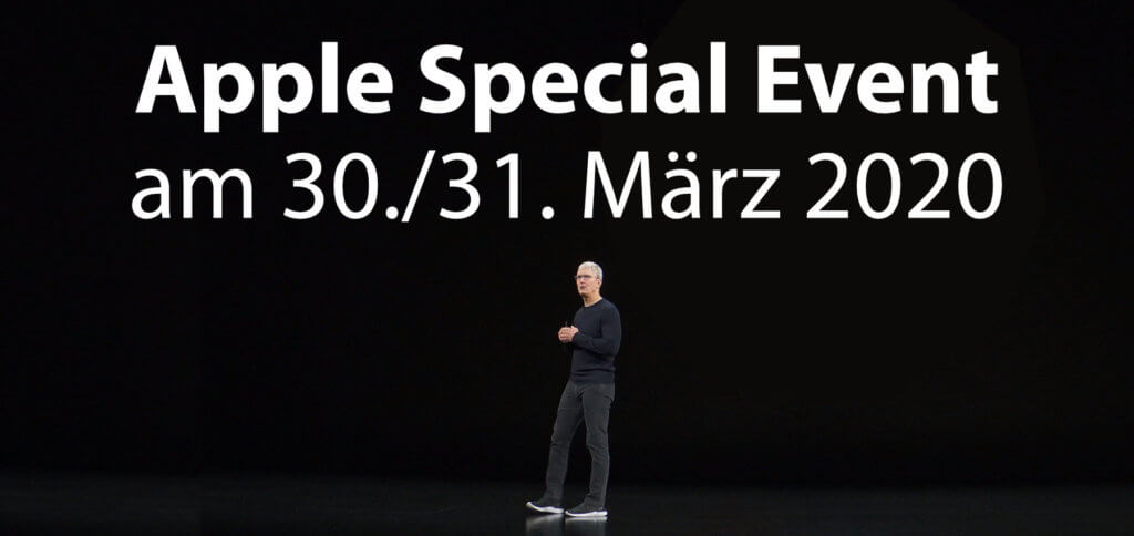 Das nächste Apple Special Event könnte am 30. oder 31. März 2020 stattfinden. Zu erwarten sind das iPhone SE 2 (oder iPhone 9), ein neues iPad Pro, AirTags, Over-Ear-Kopfhörer, eine neue Apple TV Box und mehr!