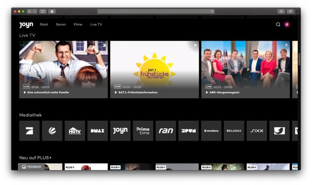 Bei Joyn bekommt ihr gratis Fernsehsender-Streaming, eine Mediathek und zudem Filme und Serien im Joyn Plus+ Abo. Ich habe mir das mal angeschaut.