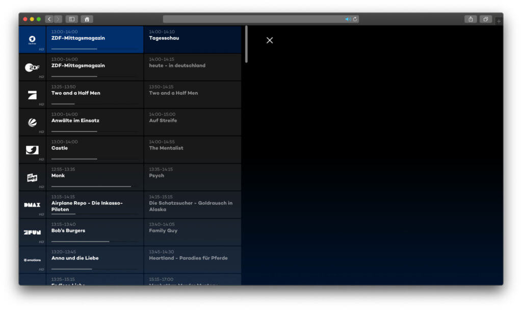 Der Hintergrund ist schwarz, weil Joyn als Streaminganbieter keine Screenshots oder Bildschirmaufnahmen seiner Medien zulässt.