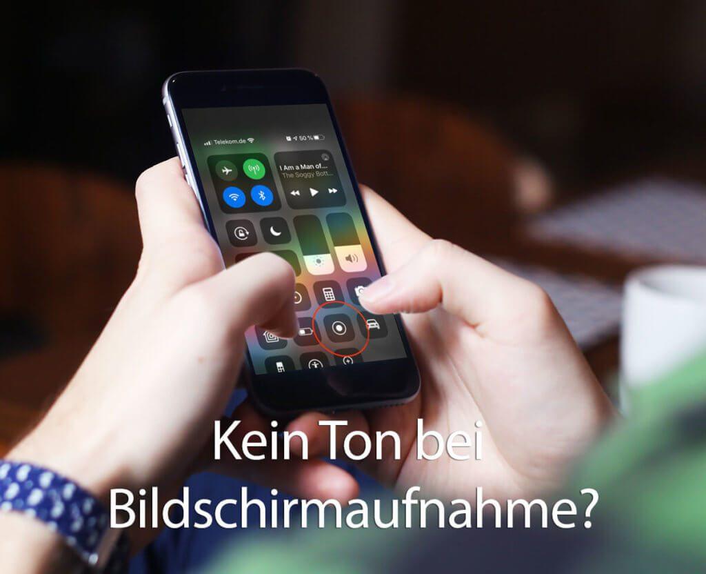 Wenn bei der Bildschirmaufnahme am iPhone kein Ton aufgezeichnet wird, sitzt die Ursache meistens vor dem Gerät.