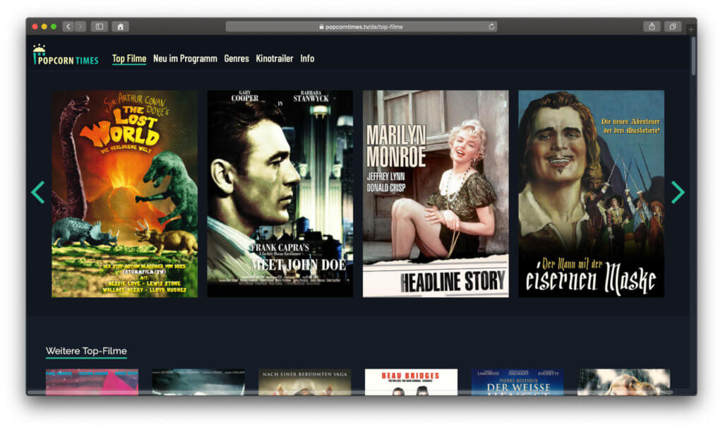 Bei Popcorntimes findet ihr kostenlos und ohne Anmeldung Film-Klassiker und B-Movies von den 1910er Jahren bis in die 2010er Jahren. Hier habe ich euch Informationen dazu zusammengefasst.