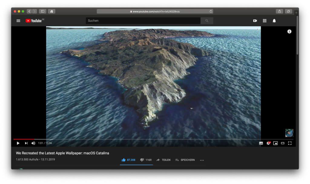 Das aktuellste Video aus der Reihe zeigt, was nötig ist, um das macOS 10.15 Catalina Wallpaper selber zu fotografieren.