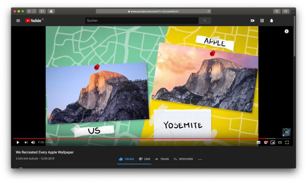 Wie einfach oder schwer ist es, Mac OS X und macOS Schreibtisch-Wallpaper nachzustellen? Im folgenden Video seht ihr es ;)