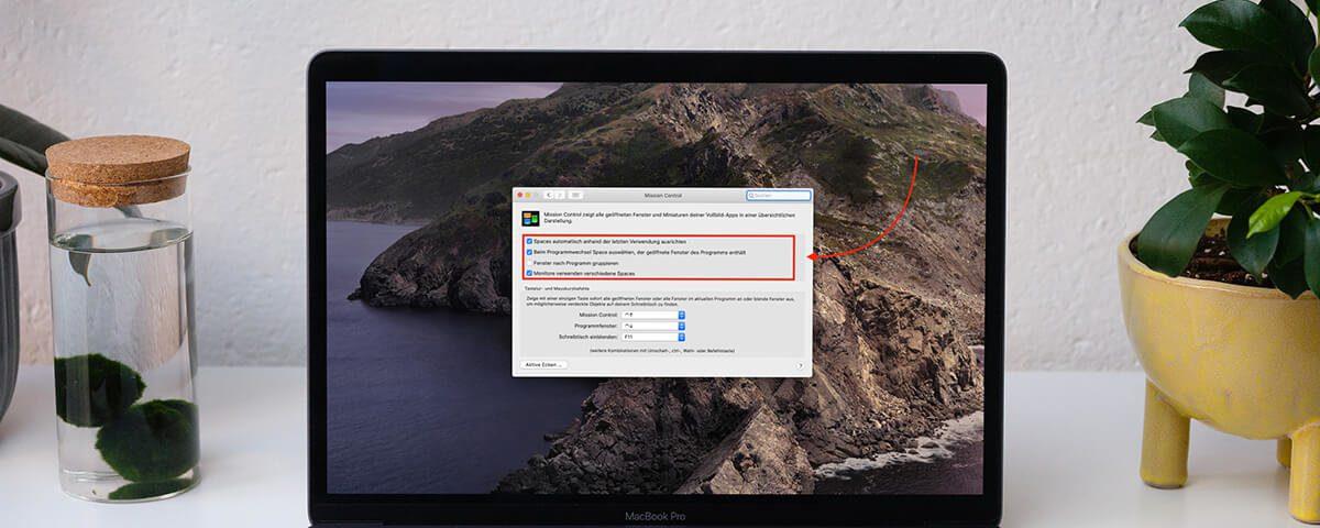 Spaces am Mac abschalten – so geht's!