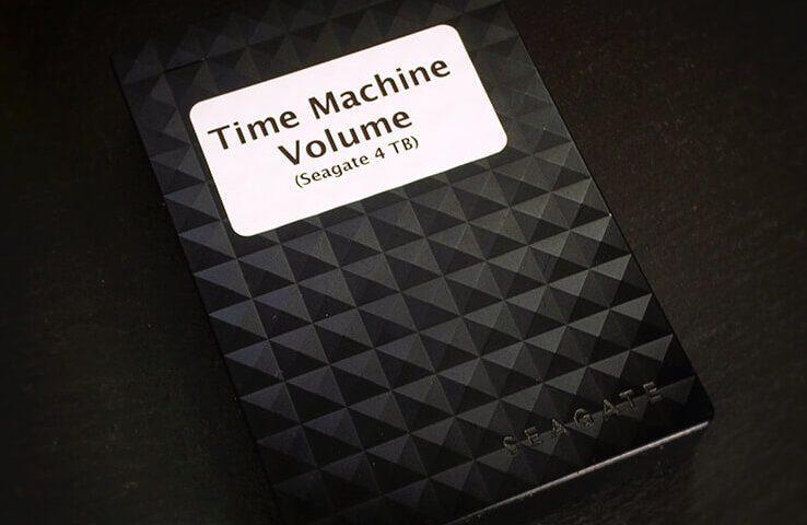 Eine Seagate 4 TB HDD ist mein Time Machine Volume