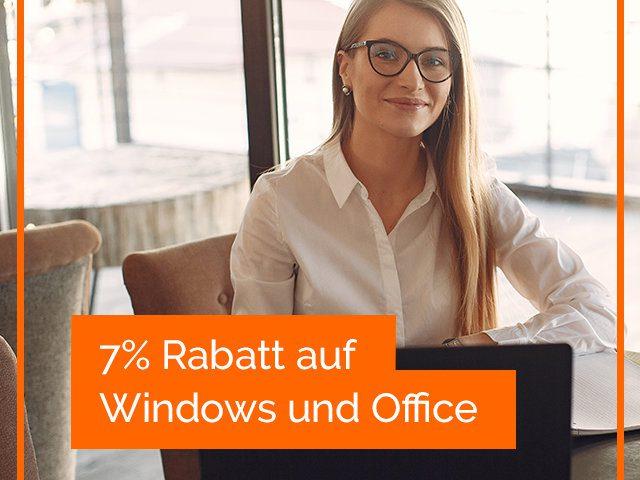 Lizenzfuchs 7% Rabatt Windows und Office