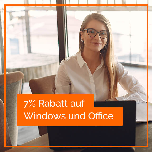 Lizenzfuchs 7% Rabatt Windows und Office