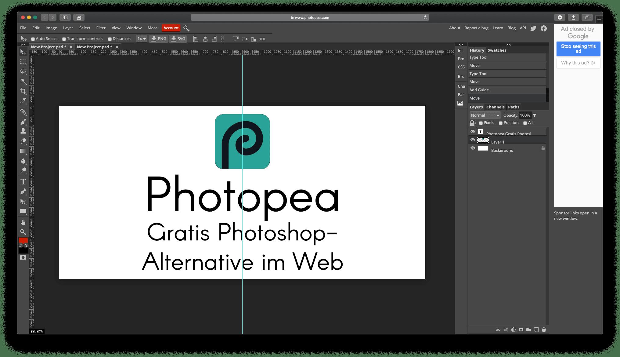 Photopea – Gratis Photoshop Alternative ohne Download » Sir Apfelot