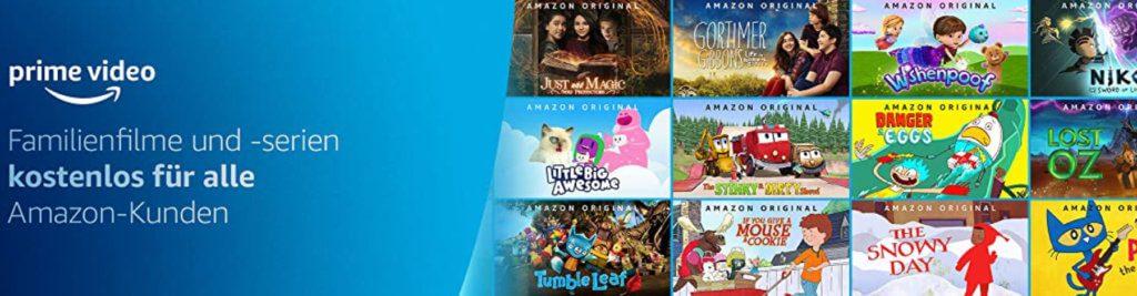 Kinderfilme und Serien kostenlos: Amazon Prime verschenkt Inhalte für die ganze Familie in der Coronavirus-Isolation.