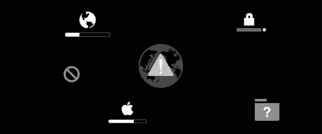 Welche Probleme und Fehlermeldungen beim Booten des Mac zeigen die einzelnen Symbole an? Was bedeuten Globus, Fragezeichen, Warnzeichen und Verbotssymbol, USB-, Thunderbolt- und FireWire-Symbol? Und warum muss man eine PIN eingeben? Hier bekommt ihr die Antwort auf eure Frage!