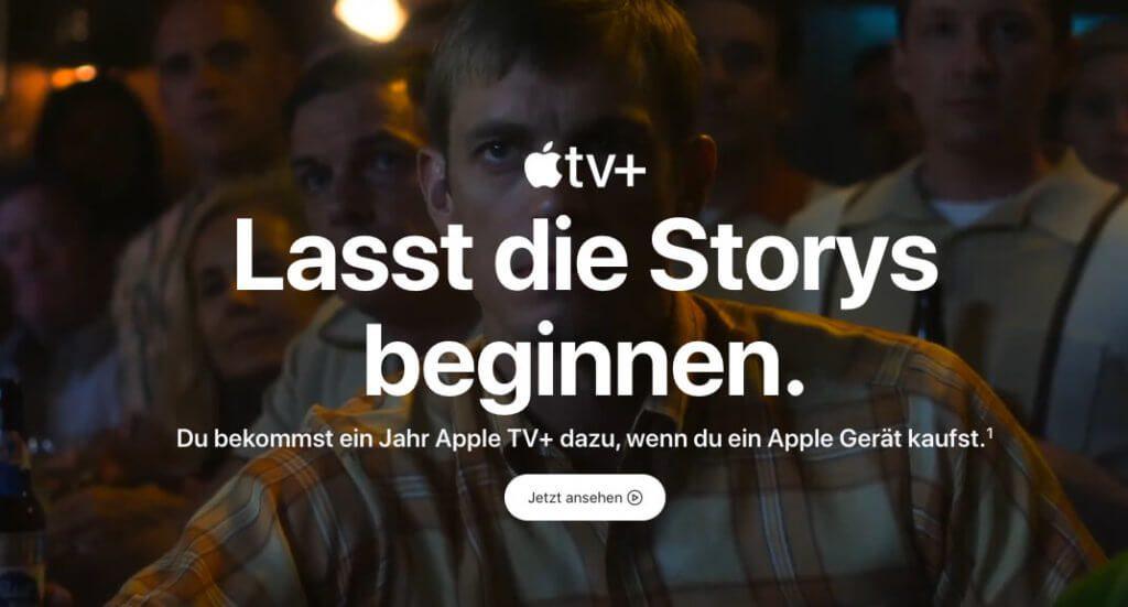 Ein Jahr lang kann man den Apple Streamingdienst gratis nutzen, wenn man ein aktuelles Apple Gerät kauft.