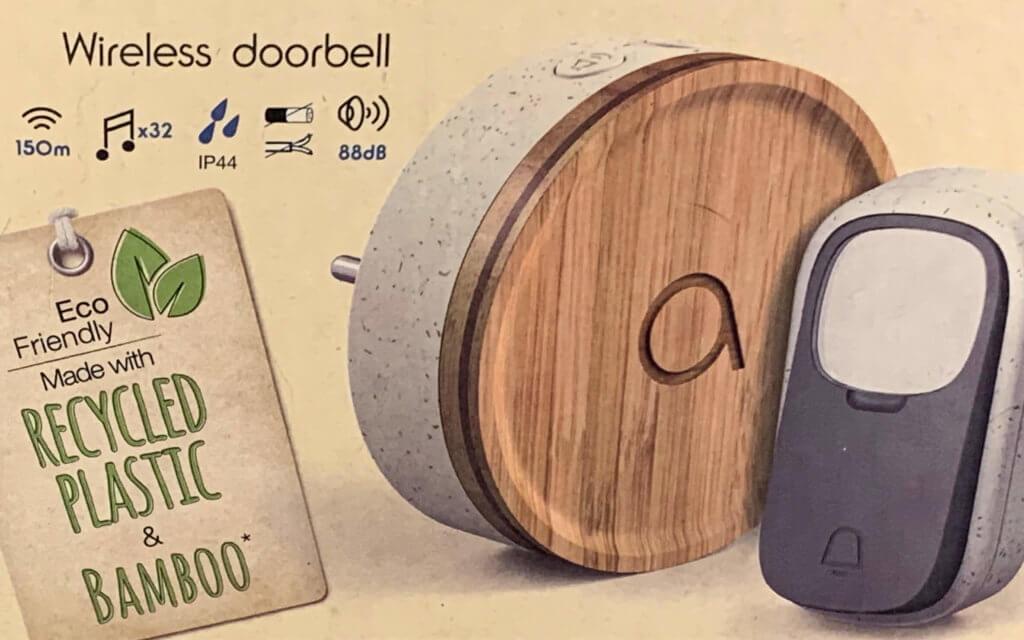 Bambus, recyceltes Kunststoff und eine Packungs aus Karton aus nachhaltig angebautem Holz. Aber funktioniert die Klingel auch trotzdem gut?