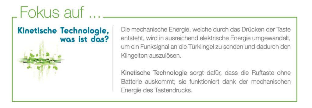 Komplett batterielos: Die Türklingel arbeitet mit Strom, den sie aus der kinetischen Energie des Tastendrucks gewinnt.