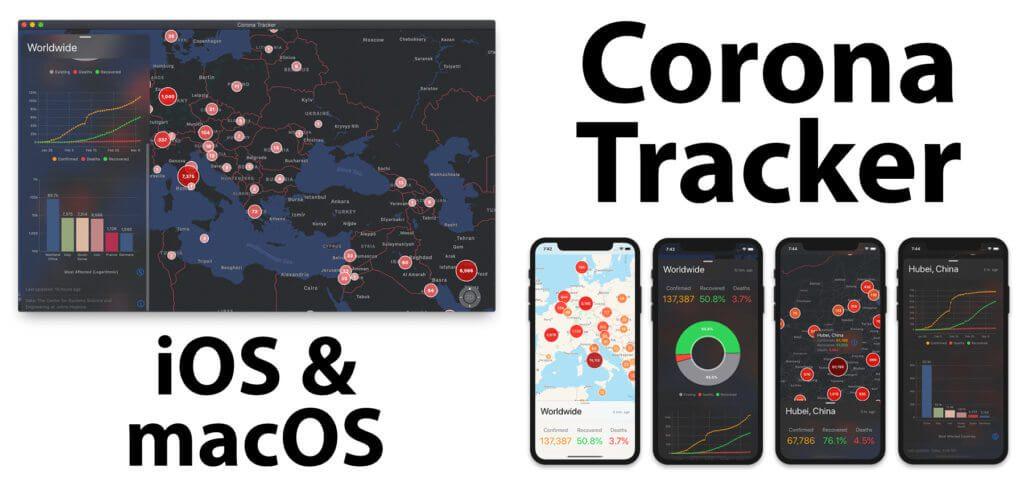 Die Corona Tracker Software für den Apple Mac und das Apple iPhone bieten euch eine Karte mit der aktuellen Entwicklung der SARS-CoV-2-Ausbreitung. Hier findet ihr den Download-Link, Alternativen für den Browser und seriöse Informationsquellen zum Thema Coronavirus.