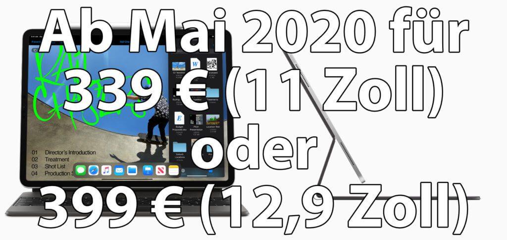 Tastaturhüllen für das iPad Pro 2020 gibt es von Apple ab Mai. Früher und günstiger eine iPad Pro Tastatur-Hülle kaufen geht mit diesen Angeboten. Entweder ihr basteln an einer 2018er-Tasche herum oder ihr kombiniert eine neue Hülle mit einer separaten Bluetooth-Tastatur ;)
