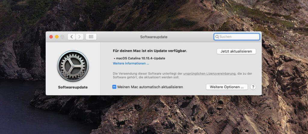 Die Update von macOS startet man über die Systemeinstellungen, die man in der Regel im Dock findet.