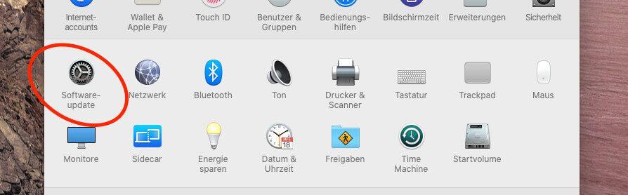 Softwareupdates von macOS findet man über die Systemeinstellungen im Finder.