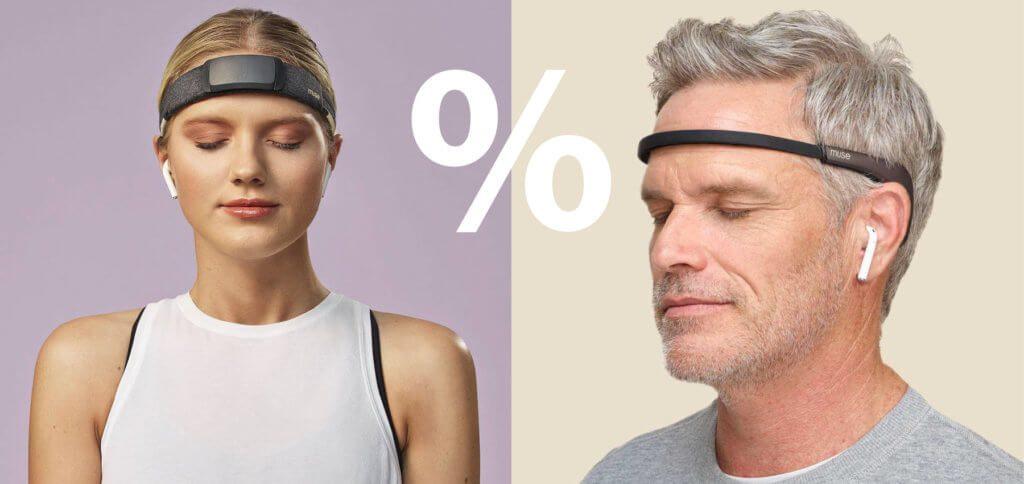 Meditieren lernen mit den Stirn- und Kopfbändern von Muse ist einfach, da sich die per App gesendete Geräuschkulisse mit den gemessenen Vorgängen im Körper ändert.