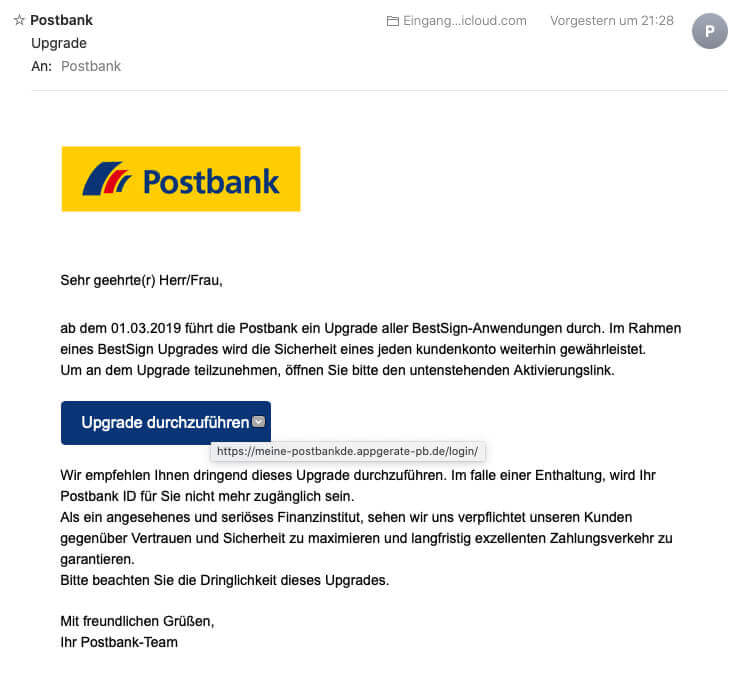 Postbank Mail