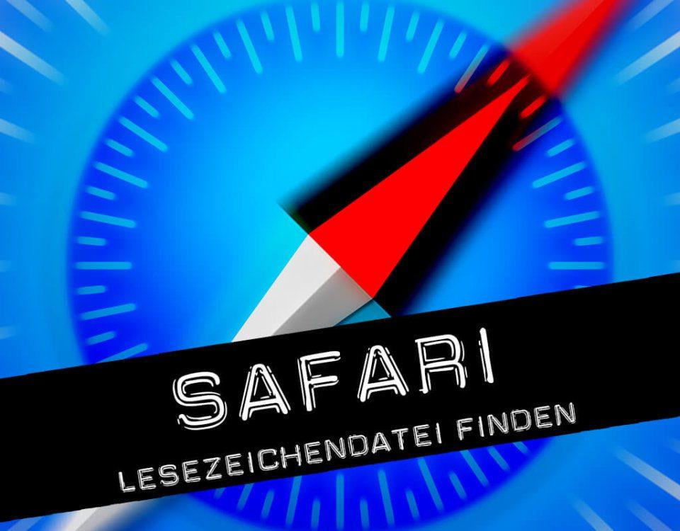 Safari Lesezeichen-Datei am Mac finden