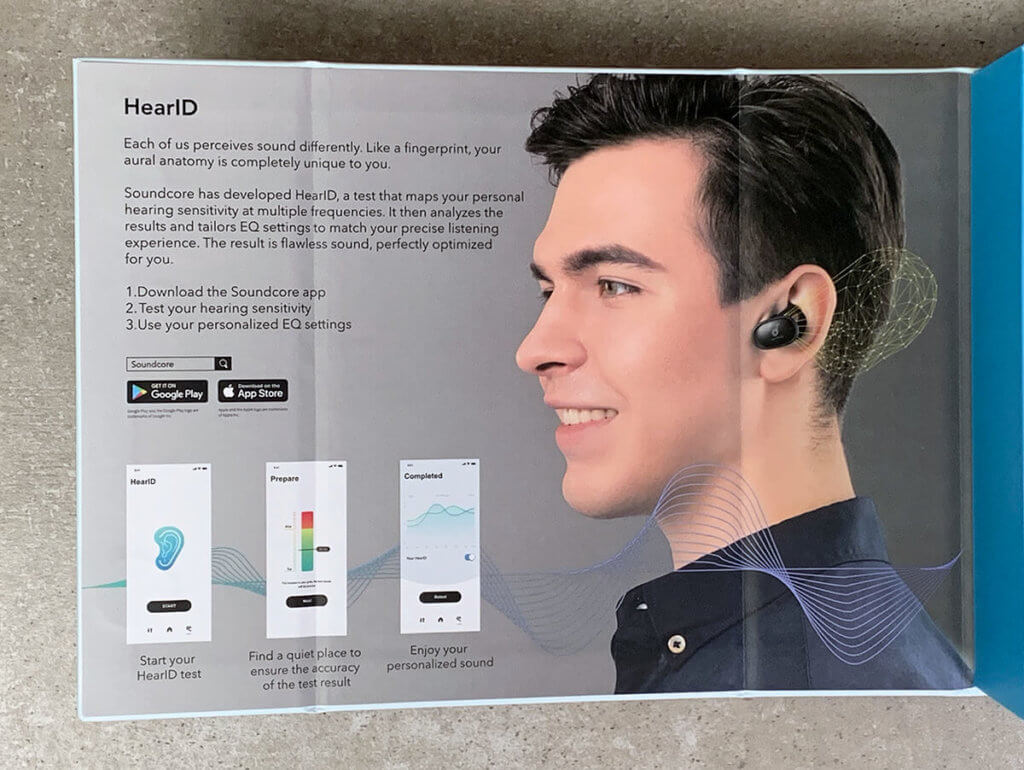 Die individuelle Anpassung des Klangs an das Gehör des Benutzers ist über die Soundcore App am iPhone möglich.