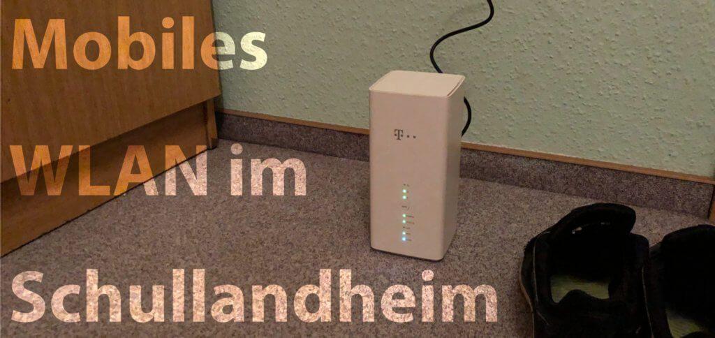 Telekom Speedbox LTE IV unterwegs genutzt: Im Schullandheim einfach in die Steckdose gesteckt und trotz direkter Nähe zum ausländischen Netz eine stabile Verbindung gehabt.