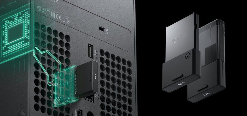 Die Xbox Series X Storage Expansion Card ist ein SSD-Speichermodul mit Seagate-Hardware und 1 TB Speicher.