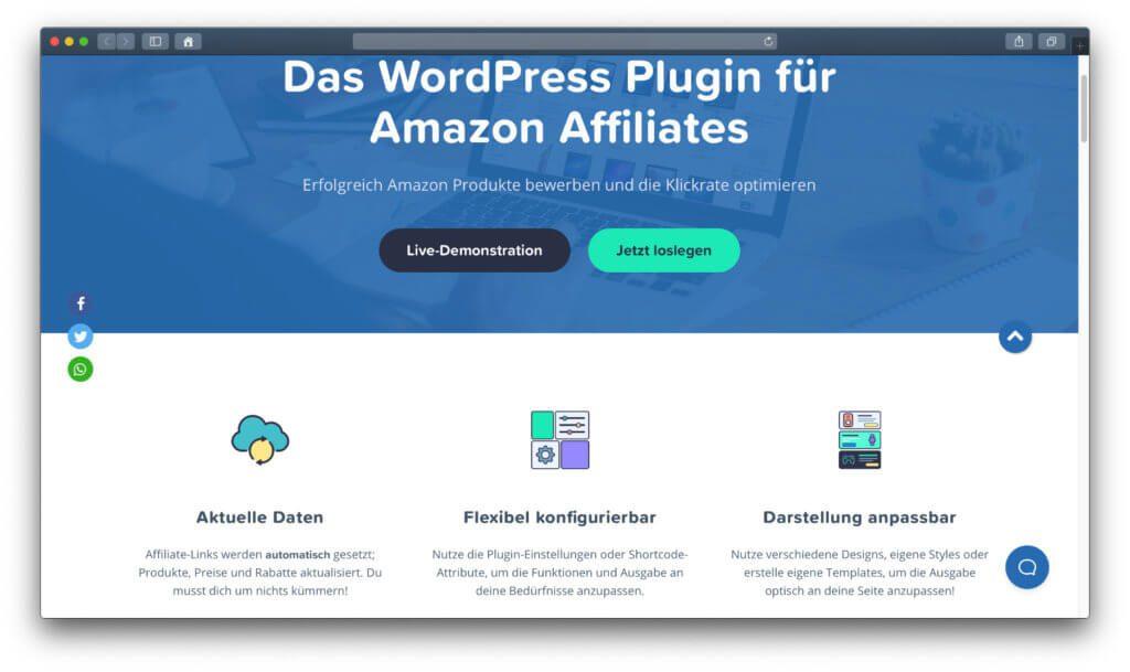 AAWP – Eins der wichtigsten WordPress Plugins, wenn ihr fürs Website Marketing auf Einnahmen aus Provisionslinks bauen wollt.