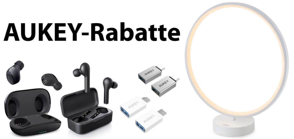 Ihr bekommt bis zu 50% Rabatt auf AUKEY-Produkte mit den folgenden Amazon Gutscheincodes. Bis zum 19. April 2020 Kopfhörer, Lampen, USB-Adapter und Bluetooth-Zubehör günstiger kaufen ;)