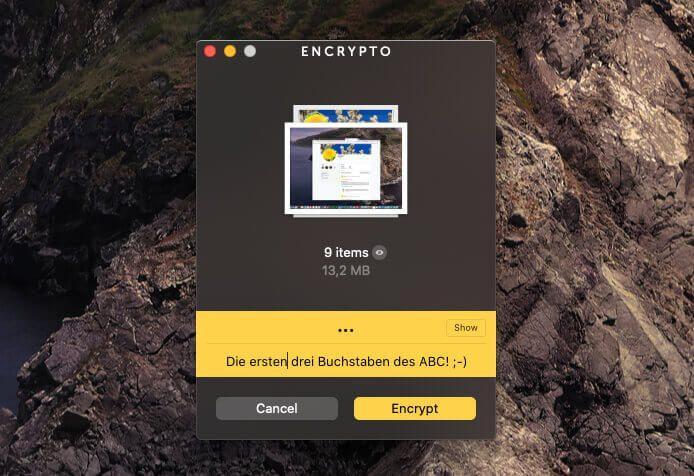 Wenn man ein schwaches Passwort aussucht, hilft die ganze AES-256 Verschlüsselung nichts.