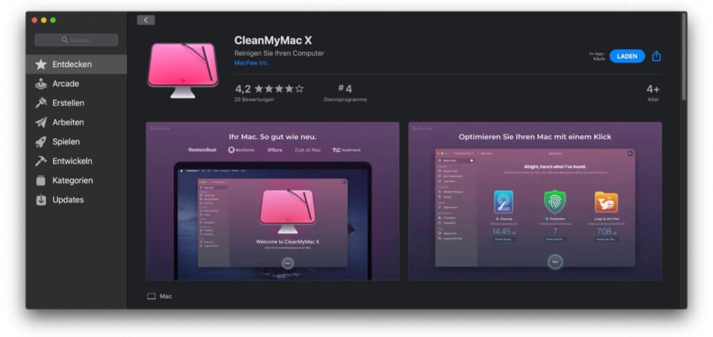CleanMyMac X von MacPaw gibt's jetzt auch im Apple App Store für den Mac. Warum ich aber den Kauf oder das Abo über den MacPaw Store bzw. das SetApp-Angebot bevorzuge, lest ihr hier.