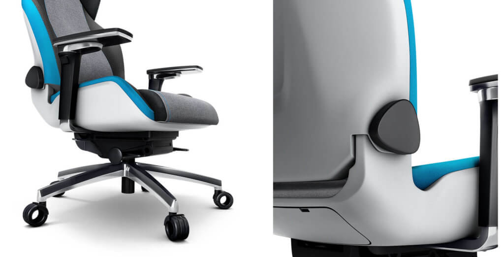 Bei allen Gaming-Sitzen von Recaro wurde Wert auf hochwertige Verarbeitung der Details gelegt – hier beim Recaro Exo Platinum.