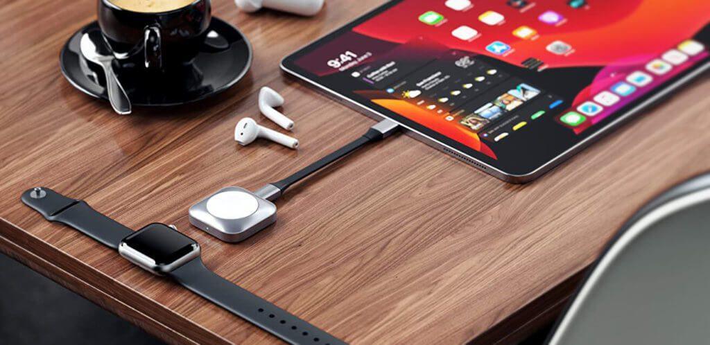 Satechi bietet als Zubehör für das Magnetic Charging Dock eine USB-C-Verlängerung, durch die die gefährliche Hebenwirkung auf den USB-C-Port minimiert wird (Foto: Satechi).