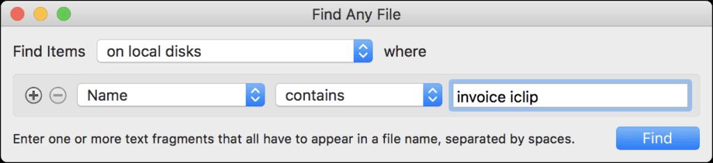 Mit Find Any File bekommt ihr verschiedene Suche-Filter für Dateien und Ordner auf den Mac. Die Dateiensuche unter macOS wird damit viel spezifischer und fördert genau das zutage, was ihr sucht. Screenshots-Quelle: apps.tempel.org
