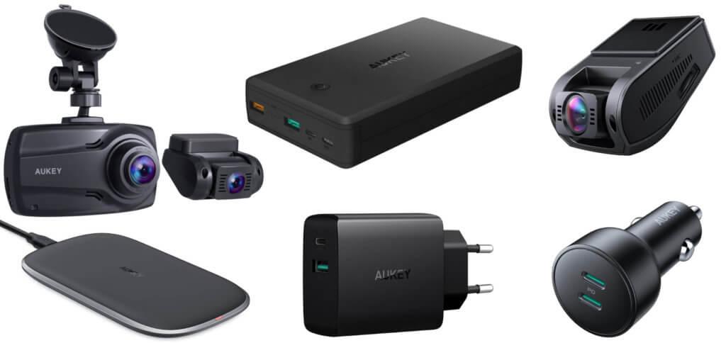 Zwei Dashcam-Modelle, ein Wireless Charger, eine Powerbank und mehrere Ladegeräte – mit den folgenden Amazon Gutscheincodes könnt ihr einige AUKEY-Artikel günstiger kaufen.