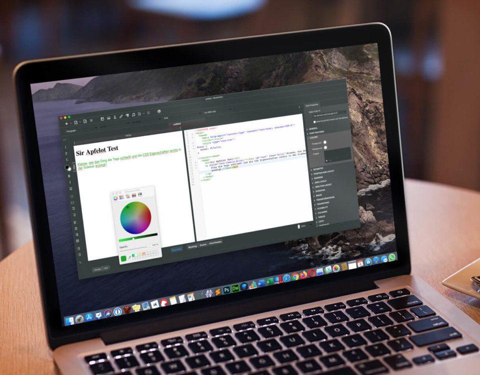 WYSIWYG HTML Editor für den Mac
