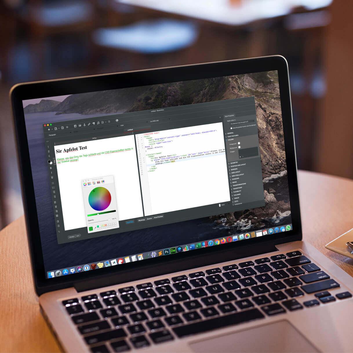 [gelöst] Kostenloser WYSIWYG HTML Editor für den Mac