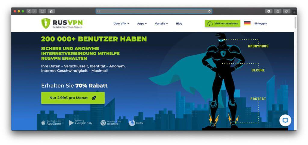 Mit RUSVPN gibt's einen neuen, guten und günstigen VPN-Dienst auf dem Markt, der mit seinen Abo-Preisen sogar NordVPN Konkurrenz macht.
