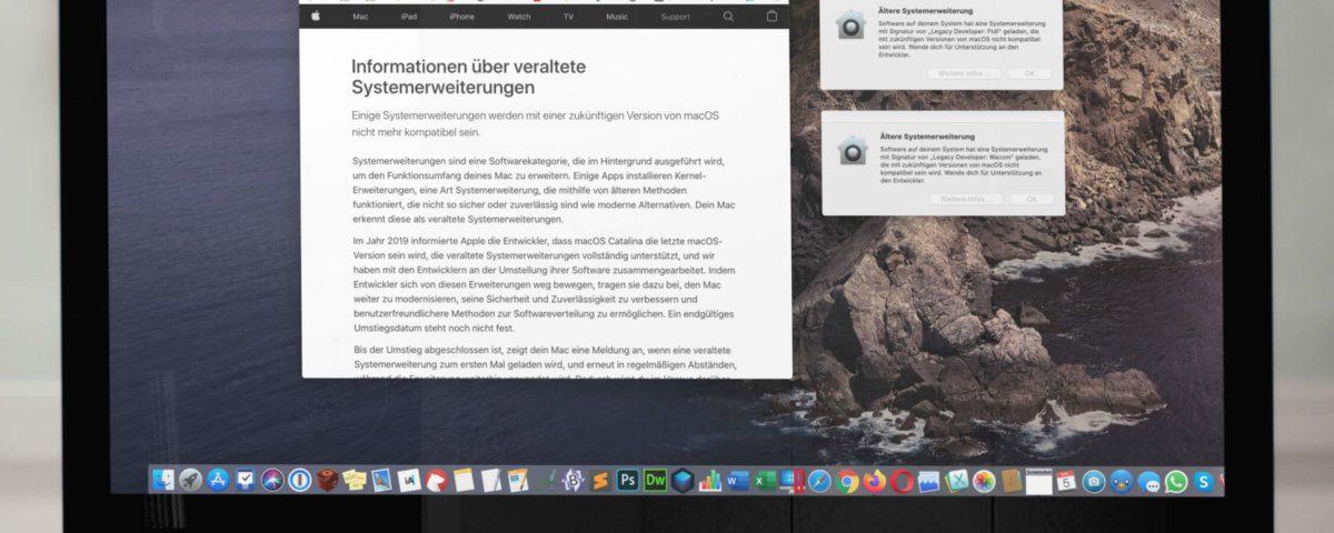 Die Informationsseite von macOS gibt eher oberflächliche Dinge zum Besten.