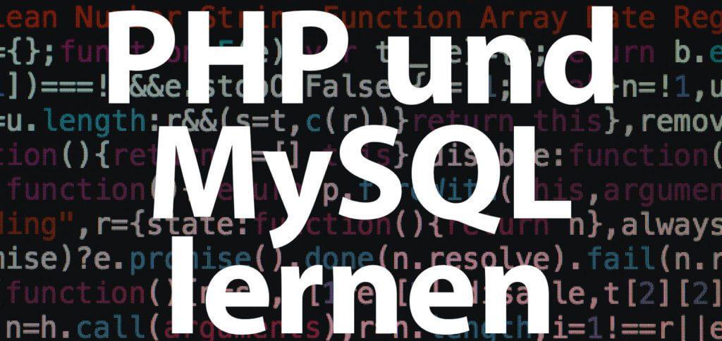 Wenn ihr PHP und MySQL lernen wollt, gibt es sehr gute Bücher, Webkurse und Tutorials. Webseiten und Programme programmieren könnt ihr bereits mit den Grundlagen, noch besser nach dem Erlernen der Fortgeschrittenen-Inhalte.