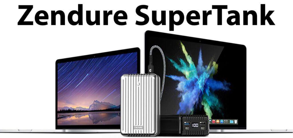 Mit der Zendure SuperTank das MacBook Pro per Schnellladefunktion aufladen – kein Problem! Die Powerbank mit 27.000 mAh verfügt über zwei USB-C- und zwei USB-A-Anschlüsse sowie bis zu 138 Watt Gesamtleistung.