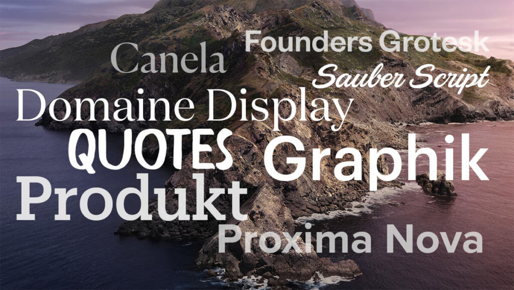 Hier findet ihr einige der kostenlosen Schriftarten, die man sich unter macOS Catalina installieren kann.