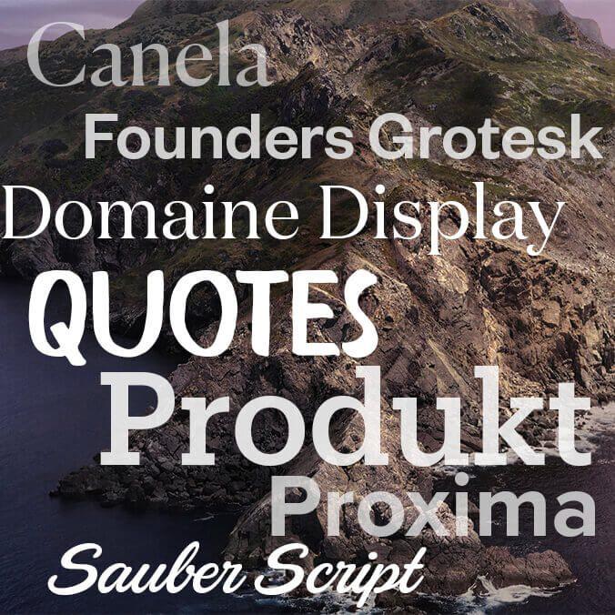 macOS Catalina – kostenlose Zusatz-Fonts