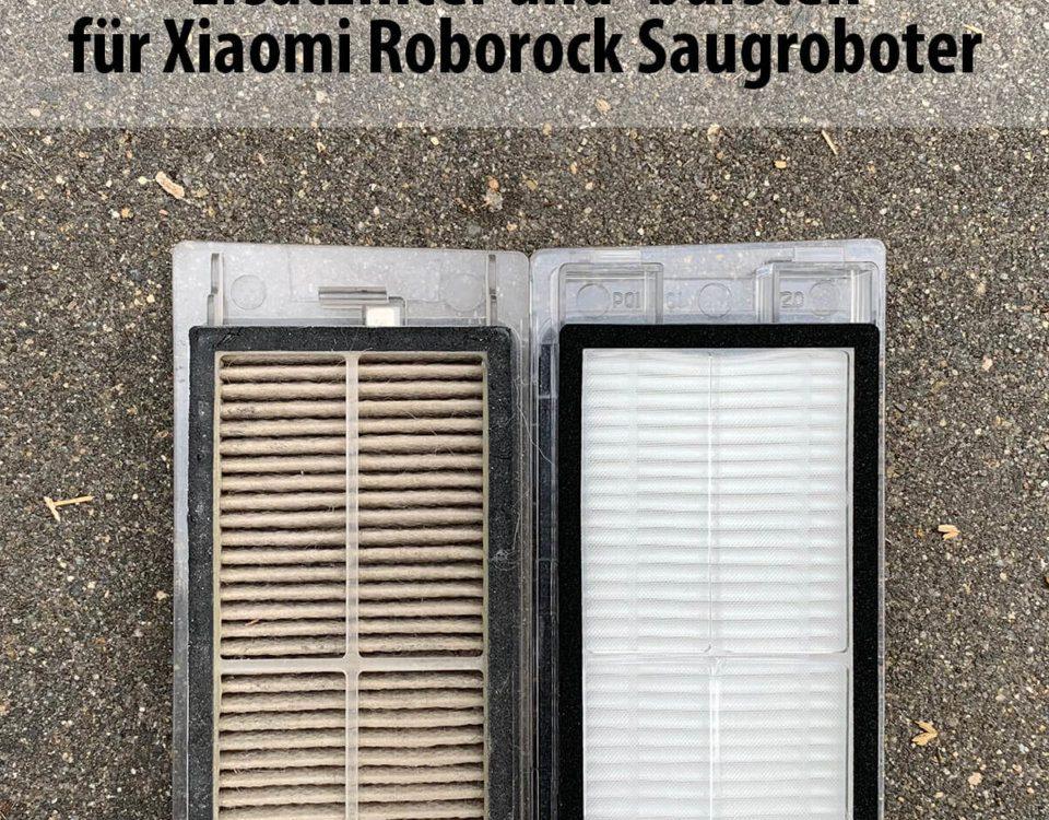 Ersatzfilter und Bürsten für den Roborock/Xiaomi Saugroboter