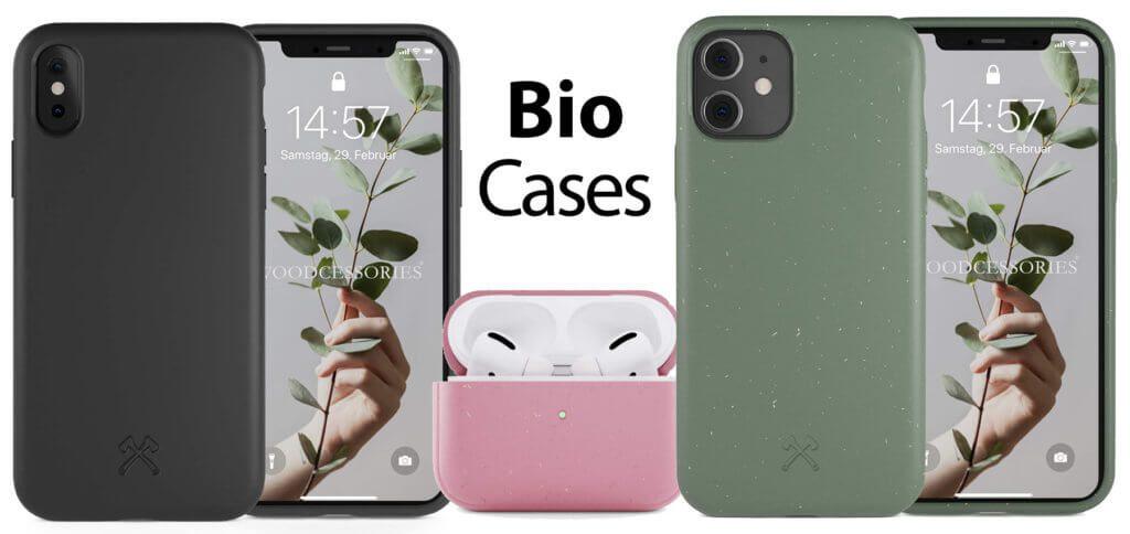 Das Woodcessories Bio Case gibt es für Apple iPhone-Modelle sowie fürs AirPods Ladecase. Hinzu kommen Modelle für Samsung und Huawei Smartphones.