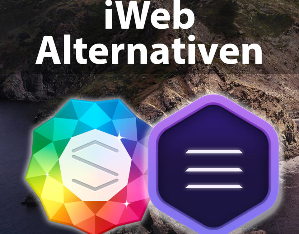 iWeb Alternativen unter macOS Catalina