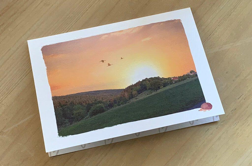Hier die fertige Postkarte, wie sie am nächsten Tag bei mir eingetroffen ist. Nett, oder?