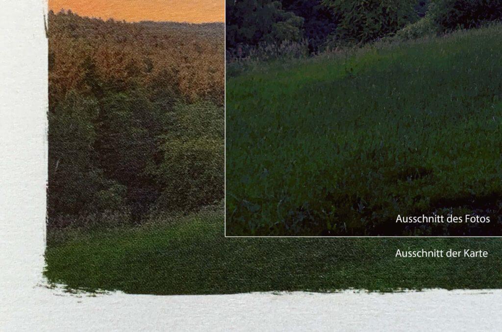 Hier sieht man den Vergleich Ausdruck und Original-Foto. Ich denke, mehr kann man beim Druck nicht aus den Daten rausholen.